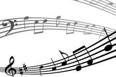 动感五线谱背景矢量素材