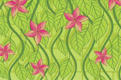 清新绿色藤蔓植物背景矢量素材
