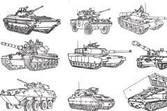 坦克和士兵矢量素材