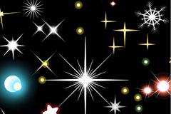 星光元素背景矢量素材
