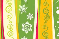 一款圣诞节花纹EPS矢量素材