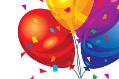 节日四色气球EPS矢量素材