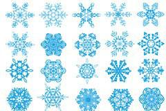 各种形状的雪花EPS矢量素材