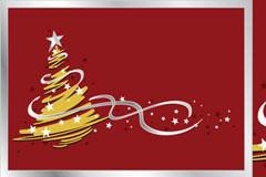 抽象圣诞树EPS矢量素材