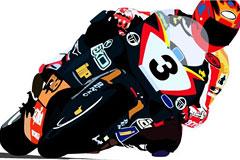 超酷摩托车赛车手矢量素材