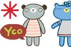 几款可爱的拟人化卡通动物矢量素