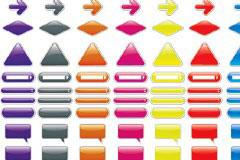 各种web风格水晶标签箭头矢量素材
