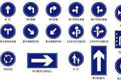 各种交通指示标志矢量素材
