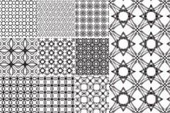多款单色欧式花纹平铺背景矢量素材