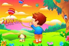童真童趣儿童彩色卡通世界矢量素
