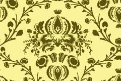 欧式经典花纹平铺背景矢量素材