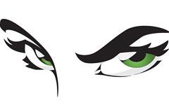 神秘猫眼女郎矢量素材