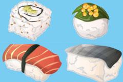 日本寿司矢量素材