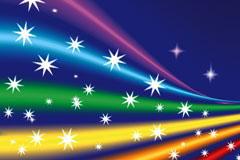 彩色光束背景矢量素材
