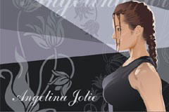 古墓丽影电影女主角罗拉矢量素材
