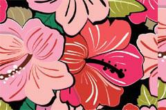 彩色堆叠花卉背景矢量素材