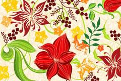 一款手绘花朵花纹背景矢量素材