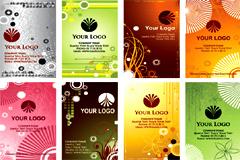 几款流行实用卡片模板矢量素材