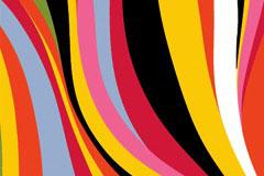 时尚多彩动感线条背景矢量素材