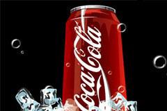 写实风格可口可乐罐装饮料矢量素材