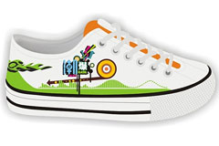 CDR格式时尚布鞋矢量素材