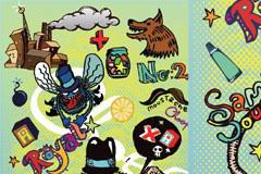 卡通潮流元素矢量素材集