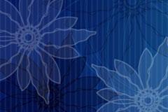 蓝色怀旧花朵花纹背景矢量素材