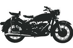 超酷金属质感摩托车矢量素材