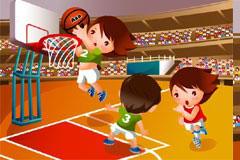 可爱卡通篮球运动矢量素材