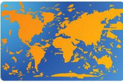 地图和气泡卡片背景矢量素材