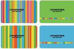 五颜六色的彩条卡片背景矢量素材