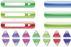 web2.0风格水晶按钮箭头矢量素材