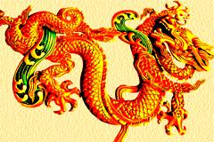 中国传统金龙吉祥图案矢量素材