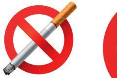 禁止吸烟标志矢量素材