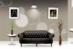 时尚室内家居设计矢量素材