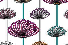 古典抽象花卉背景矢量素材