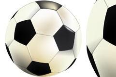 一款复古风格足球插画矢量素材