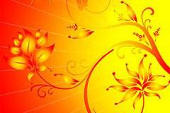 CDR格式金色闪光花纹背景矢量素材