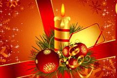 3款圣诞主题卡片背景矢量素材