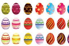 多款漂亮的复活节彩蛋矢量素材