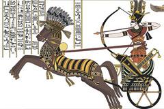 手绘古埃及勇士矢量素材