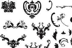 多款实用黑白欧式花纹矢量素材