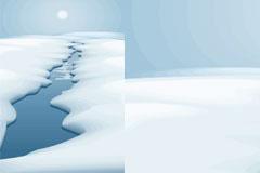 冰雪消融的初春时节矢量素材
