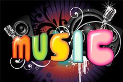 music潮流艺术字矢量素材