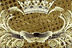 欧式皇冠丝带纹样矢量素材