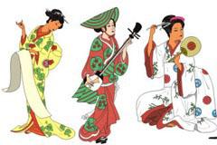 CDR格式日本和服女人矢量素材