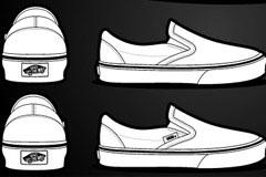 写实运动布鞋矢量素材