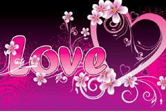 2款浪漫情人节心形元素矢量素材