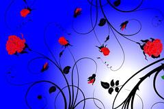 神秘玫瑰花纹背景矢量素材