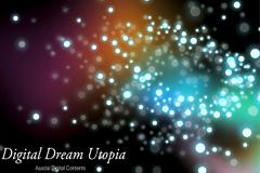 梦幻超炫星光背景矢量素材